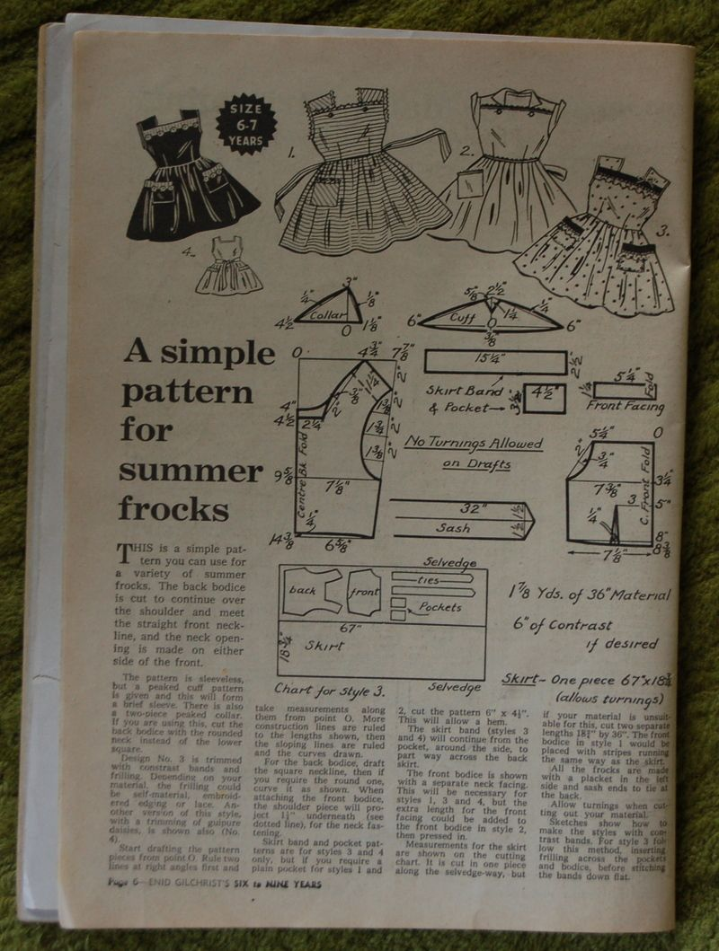 Enid gilchrist summer frocks sewing quilting and needlework enid gilchrist summer frocks kids patternsvintage patternsvintage sewingpattern cuttingpattern makingsewing jeuxipadfo Image collections