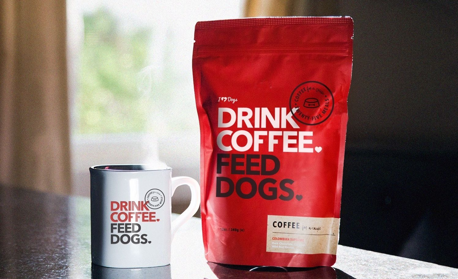 Coffee For A Cause Never Feel Guilty About That Extra Cup Because It Feeds Shelter Dogs Healthy Drinks Drinks Coffee Drinks