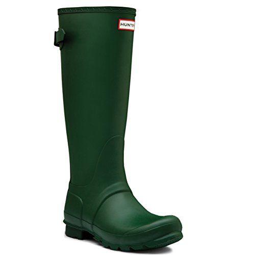 Hunter sea spray foam green boot in