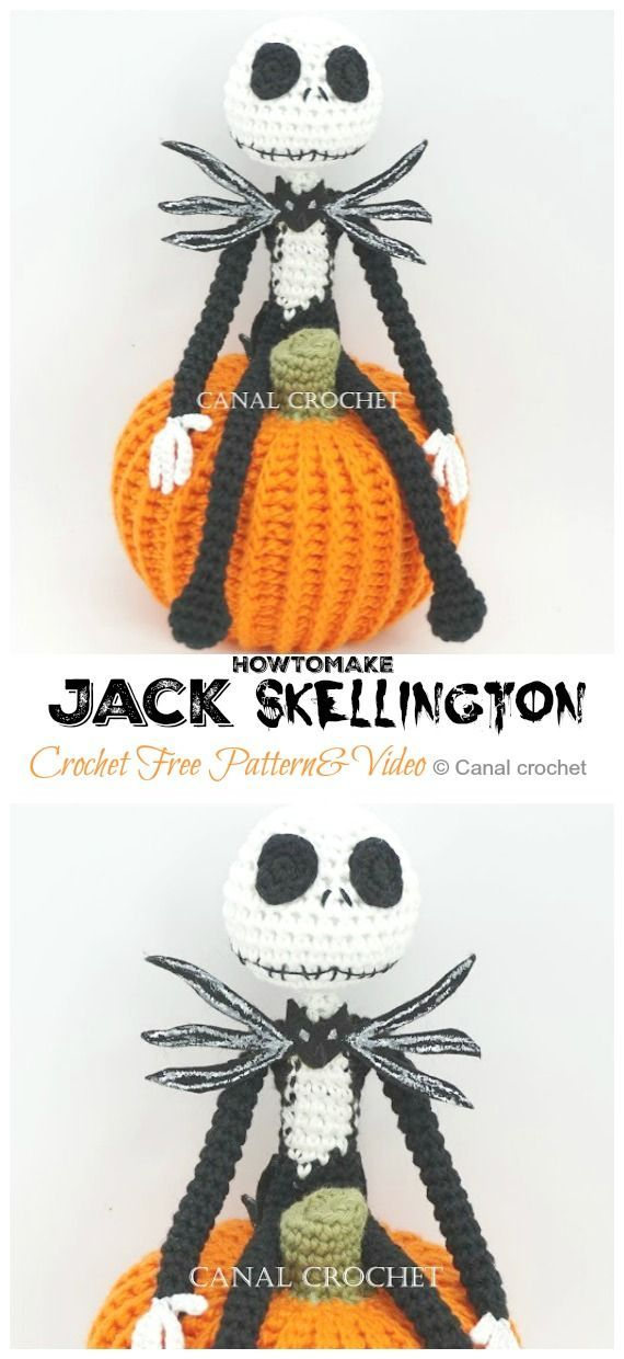 Crochet amigurumi Jack Skellington by Tim Burton | 1240x570