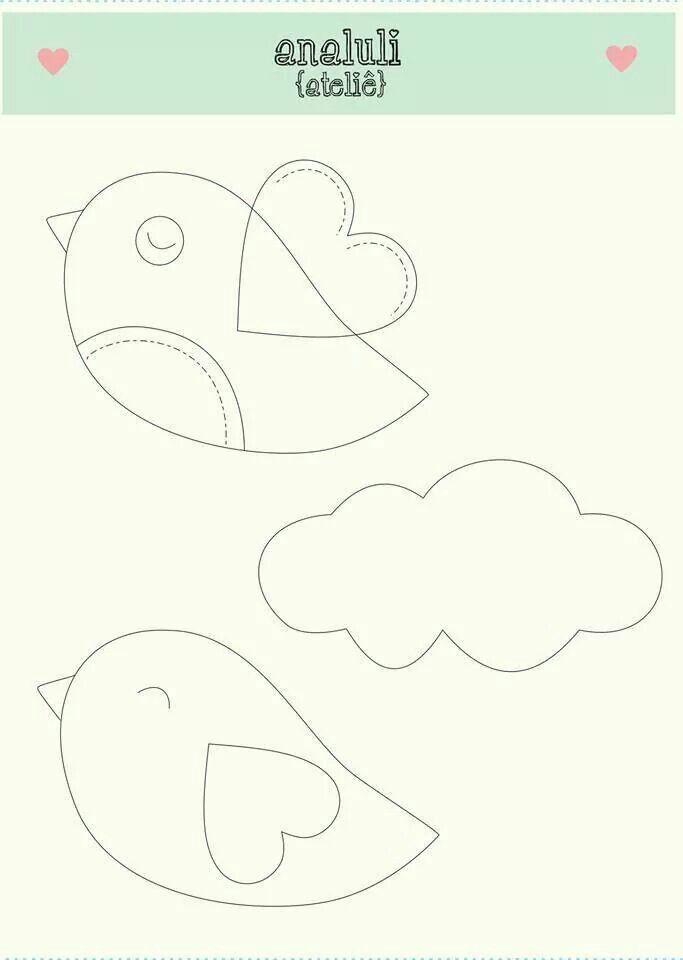 pássaro | diy | Pinterest | Tiere nähen, Filz und Bastelei