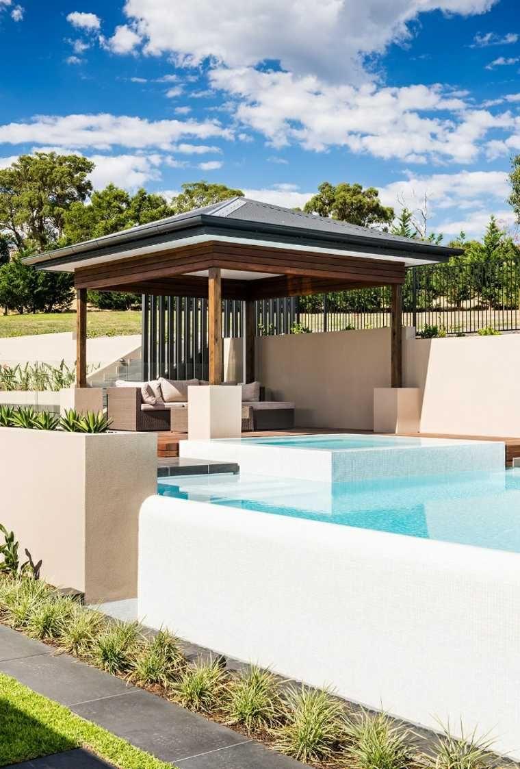 Gazébo et abri soleil : des idées pour jardin avec piscine | Vivre ...