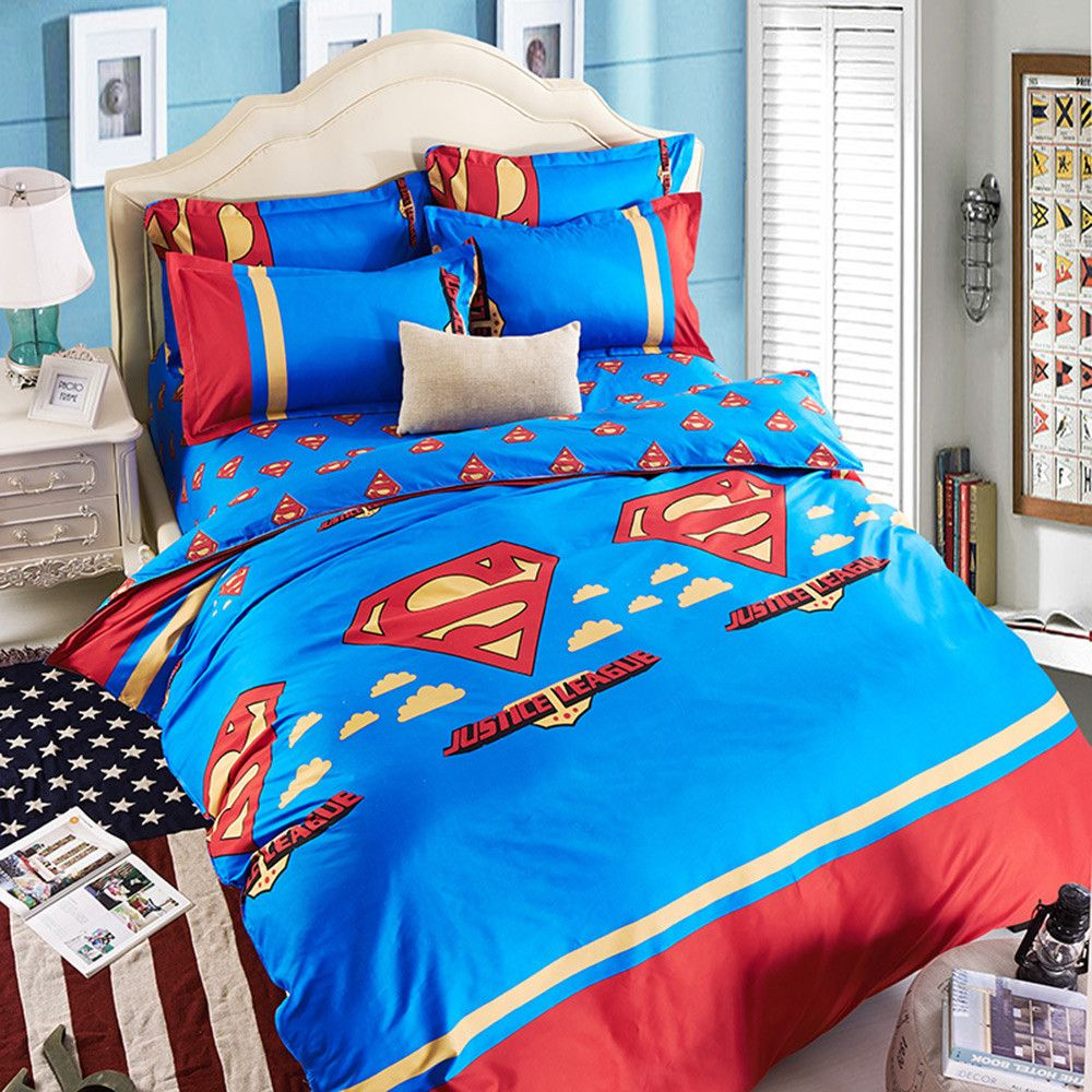 Bedding Set Superman 39 99 Dls Free Shipping Queen Size 4 Pcs