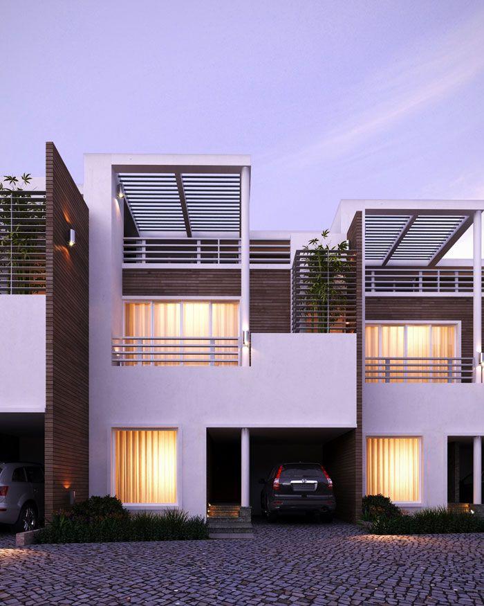 Modern Row House Plans: Townhouse, House Design, House
