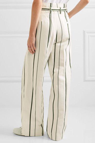 3.1 Phillip Lim - Striped Cotton And Linen-blend Wide-leg Pants - Cream - US