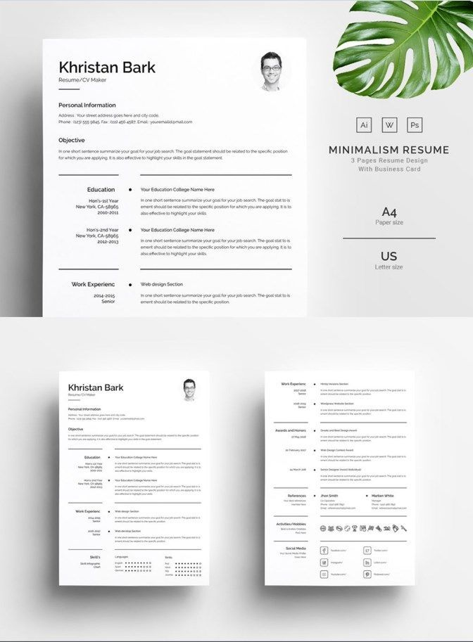 Khristan Bark - Clean Resume Template - clean resume template