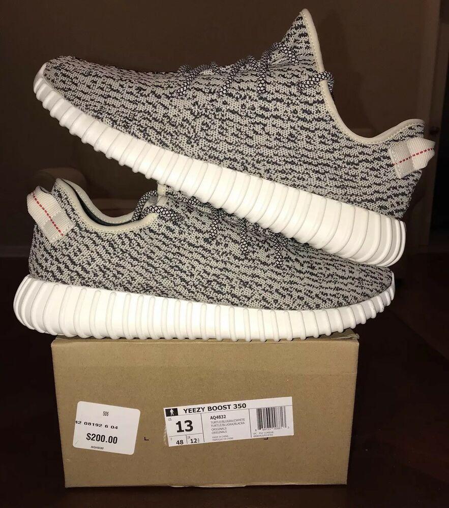 737845d82637a eBay  Sponsored Adidas Yeezy 350 Boost Turtle Dove Kanye 13 V1 V2 Grey  Light Glow 750 AQ4832 X V