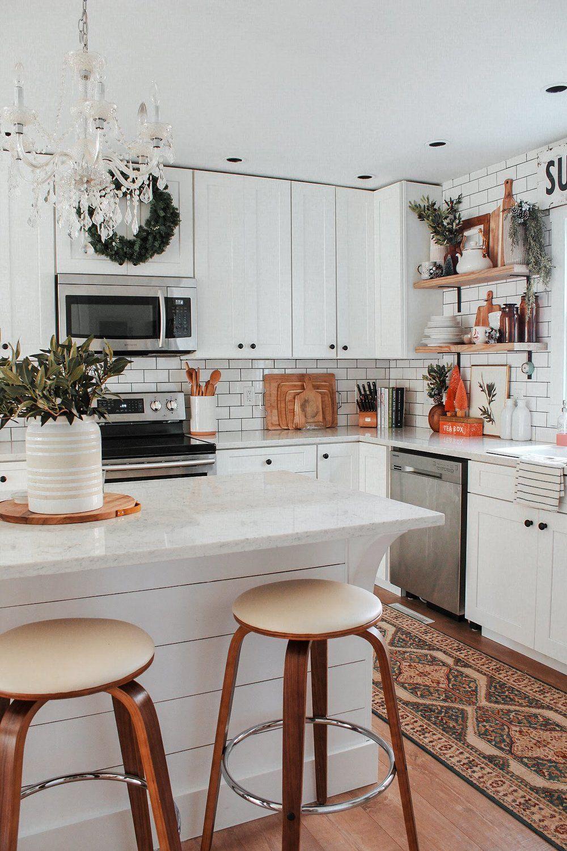 bohemian farmhouse christmas boho kitchen white home decor home kitchens on boho chic home decor kitchen id=82355