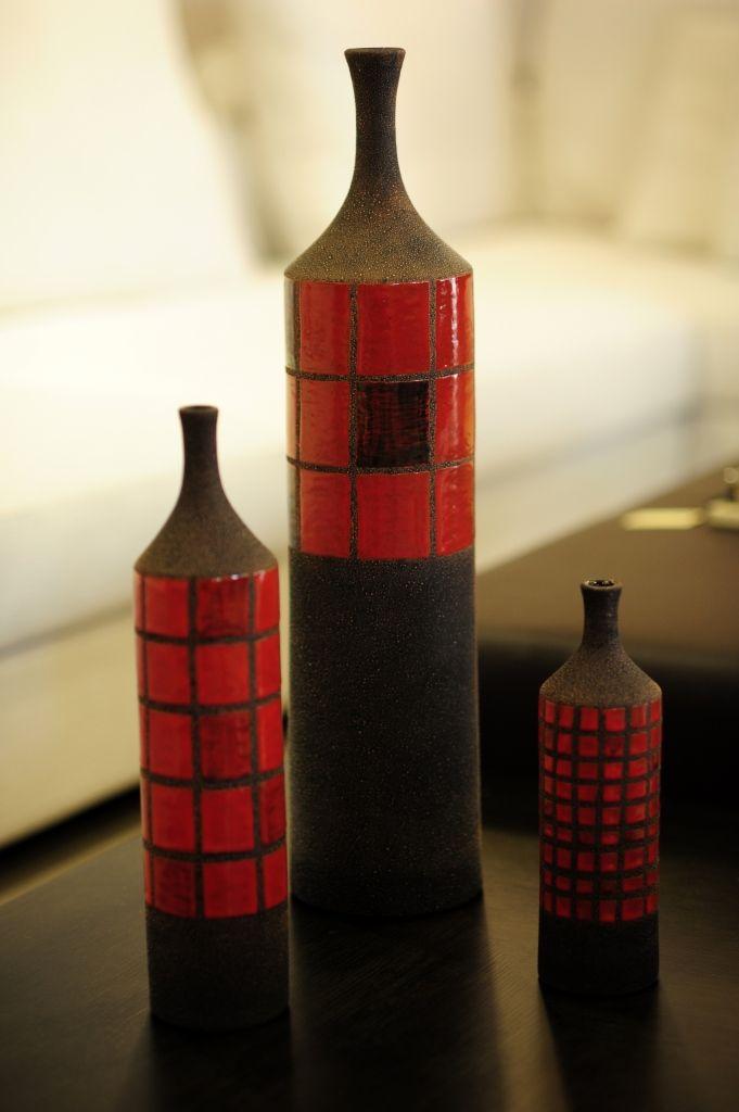 Unique #pieces #art #sculpture. #Home Decor. #Black #Red www.azulandco.com