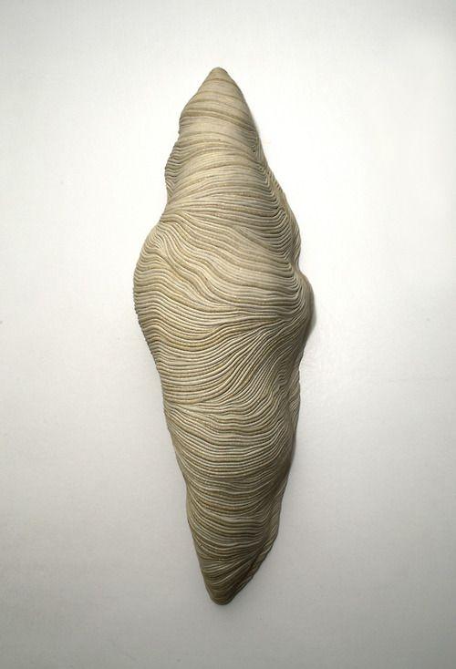 "White larva/ Stoneware/ 22 x 6.6 x 5.9""/ 2011"