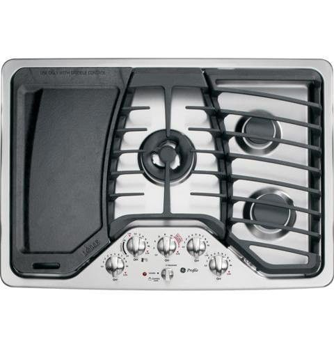 Ge Profile 30 Built In Stainless Steel Gas Cooktop W Griddle Pgp959setss