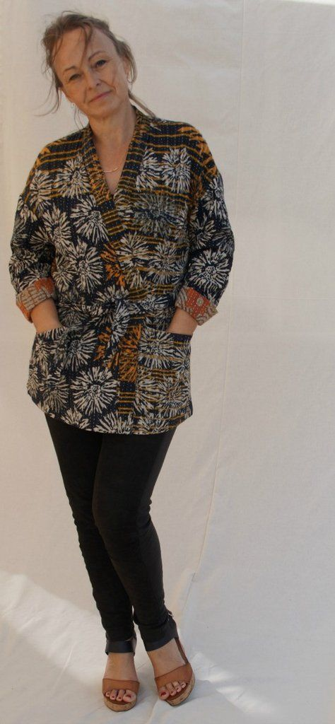 Komi Kimono Jacket Sewing Pattern | Kimono jacket, Jacket pattern ...