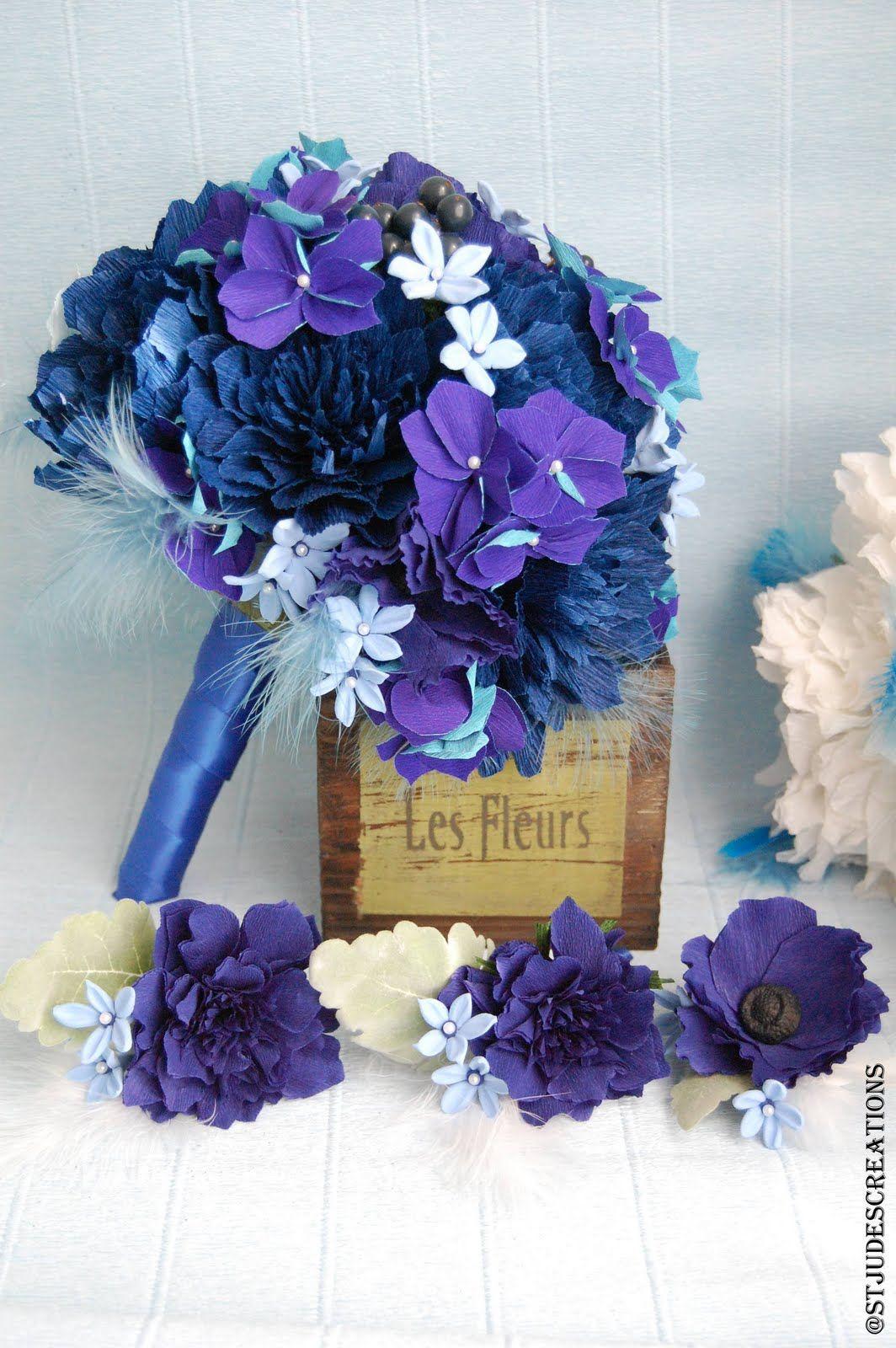 Blue and Purple Wedding Cakes midnight royal blue