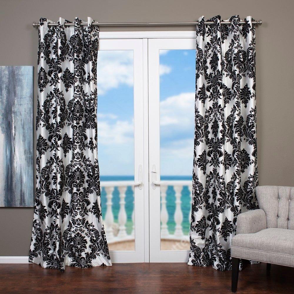 Lambrequin Venetian Grommet Top 84 Inch Curtain Panel In Black