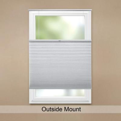 Home Decorators Collection Snow Drift White Top Down Bottom Up Light Filtering Cellular Shade 22 In W X 72 In L 10793478652464 The Home Depot Home Decorators Collection Cordless Cellular Shades Cellular Shades