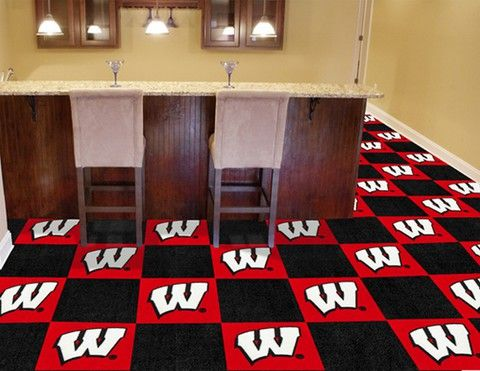 Wisconsin Badgers Carpet Tiles With Vinyl Backing The Carpet Top