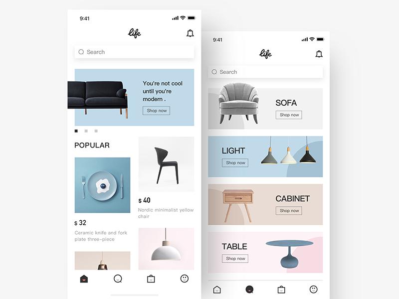 Furniture E Commerce App Furniture App Design App