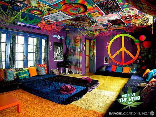 Peace Trippy Room Decor Cool Rooms Hippy Room Awesome Bedrooms
