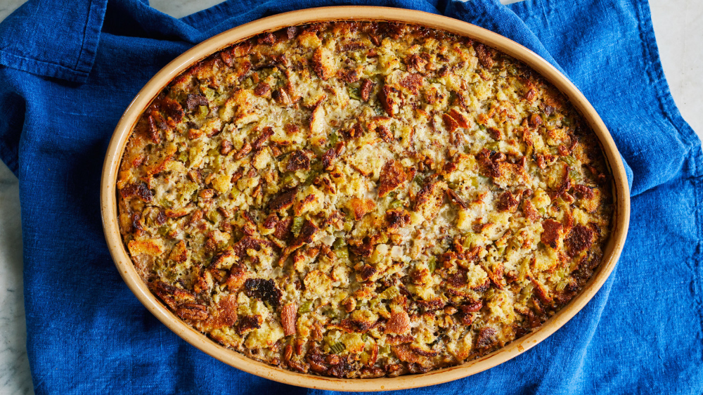 Cornbread Dressing With Sage And Pecans Recipe Cornbread Dressing Homemade Buttermilk Cornbread Homemade Buttermilk