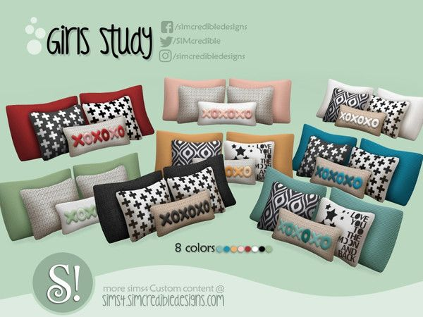 SIMcredible!'s Girls Studio - cushions