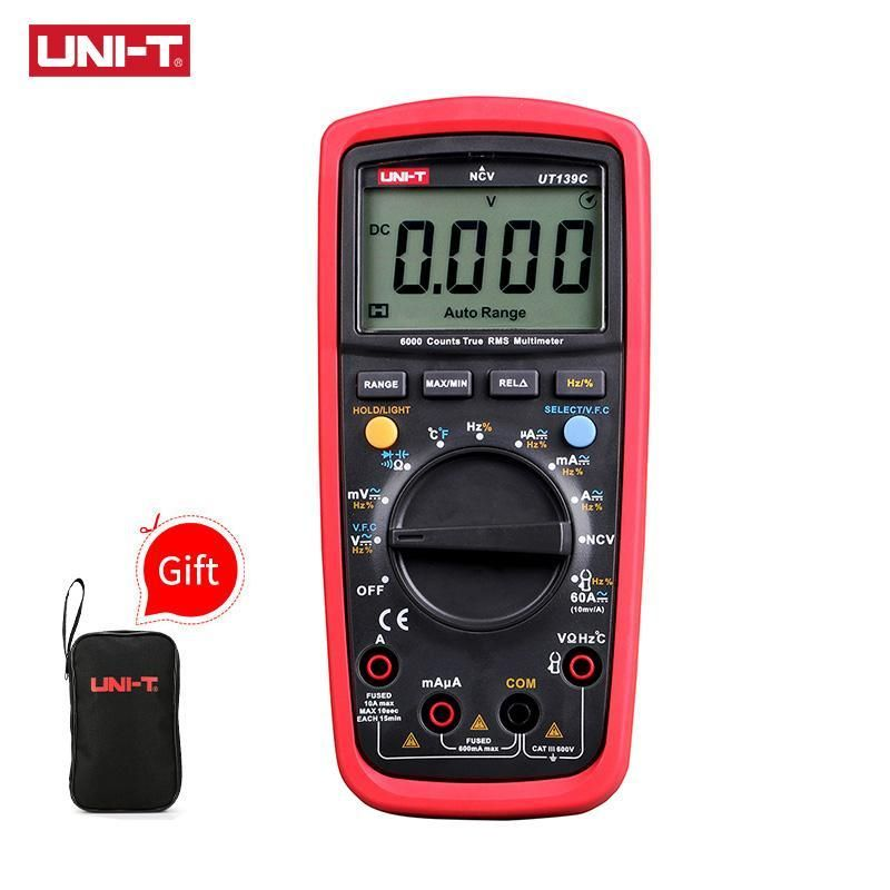 Digital Multimeter Digital Clamp Meter AC DC Voltmeter Auto Range Volt Ohm Amp Tester US