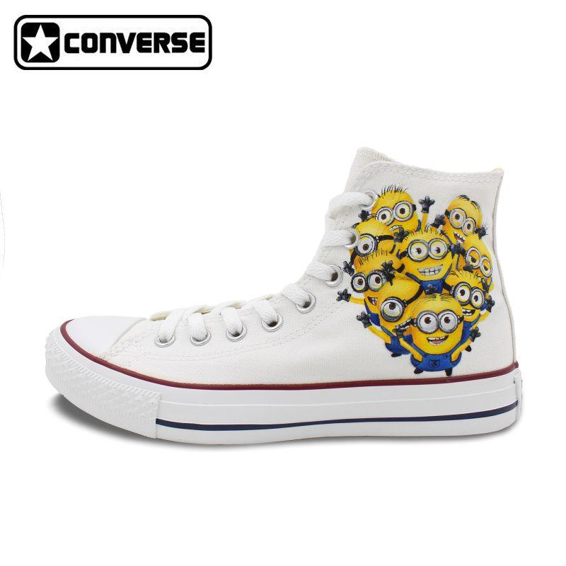 c5d4c9c6ba19 Converse Chuck Taylor Minions Despicable Me Gru Design Hand Painted Canvas  Shoes High Top Sneakers