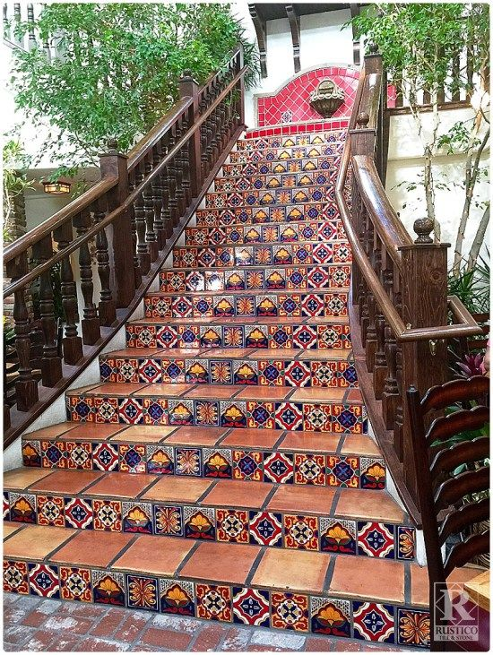 Mexican tile staircase any mexican food restaurant needs Cheap mexican tile