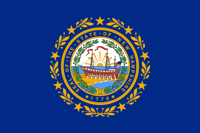 File Flag Of New Hampshire Svg State Flags New Hampshire Hampshire