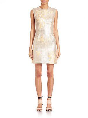 3.1 Phillip Lim Mixed Media Contoured Dress