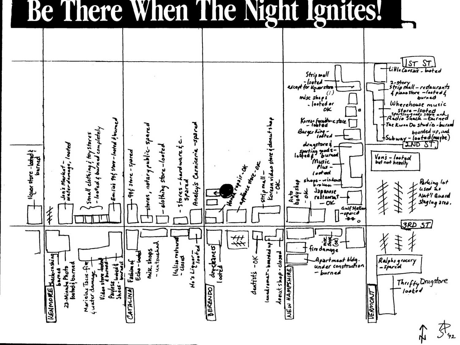 Mapping The LA Riots From Rodney King To Koreatown The Ojays - Los angeles k town map