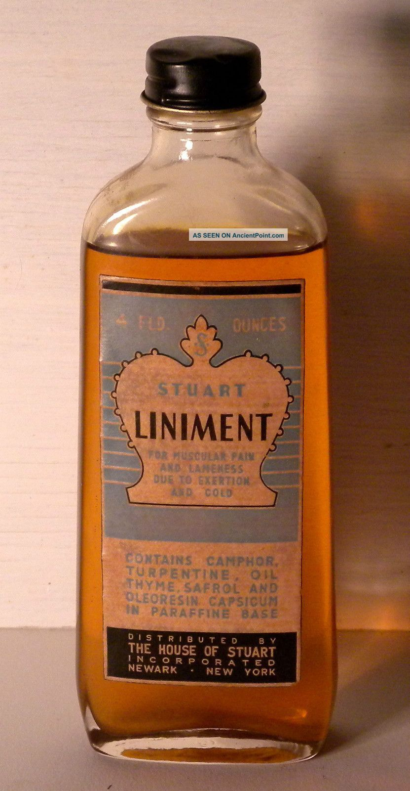 Liniment - House of Stuart Inc  Newark New York - For muscular pain