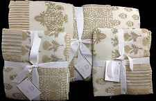 POTTERY BARN NILA PATCHWORK FULL/QUEEN QUILT + 2 STD SHAMS NEW NEUTRAL COMFORTER