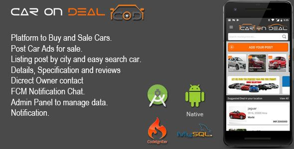 CAR ON DEAL - Buy And Sale Car Android App | Code-Scripts-and