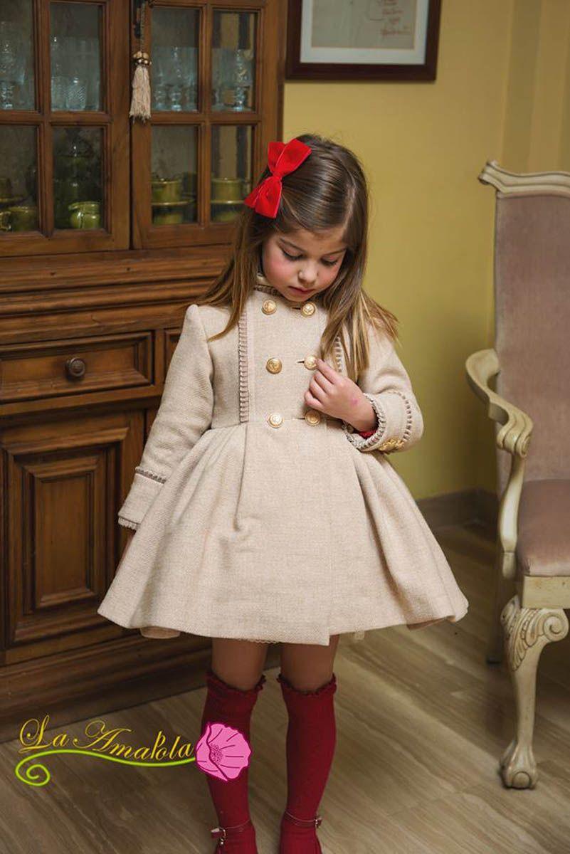 d8cf64c17 Abrigo niña La Amapola -35% descuento   BLACK FRIDAY   Moda infantil ...