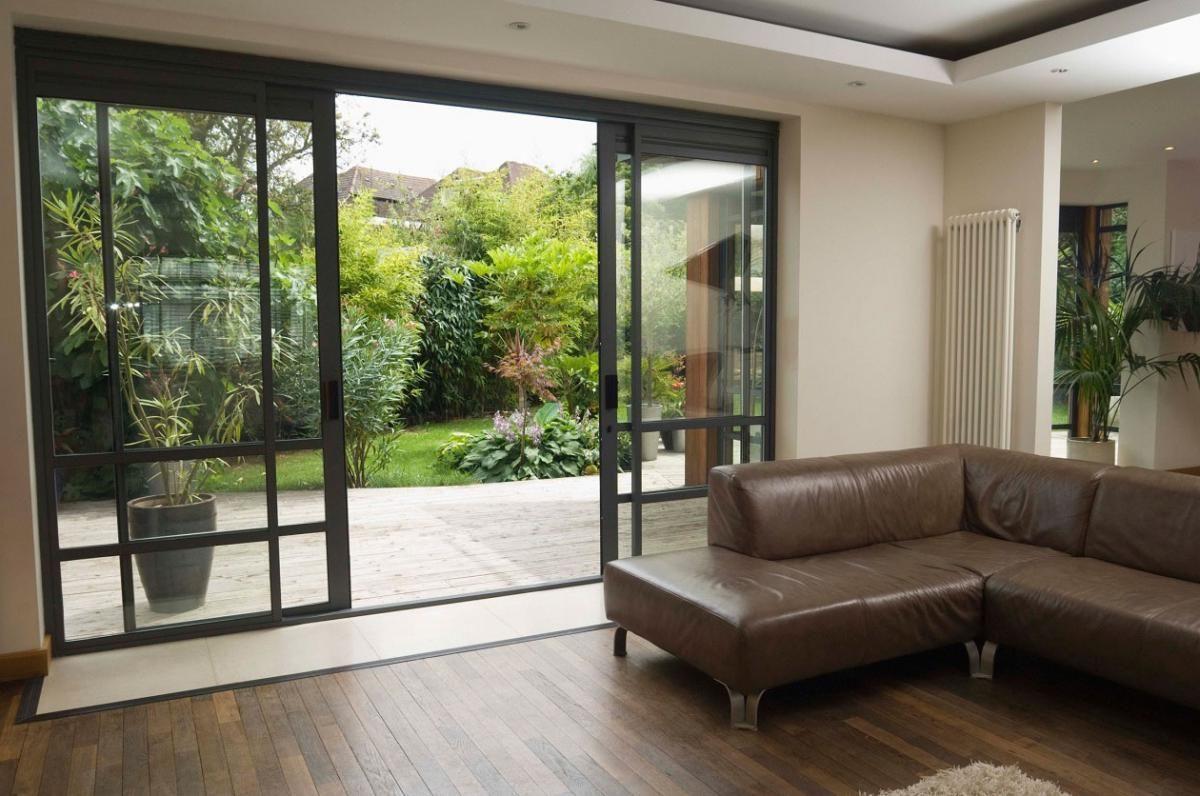 Glass Door Designs For Living Room Prepossessing Interiorbrownsofawithslidingglassdoorinteriordesignideas Decorating Design