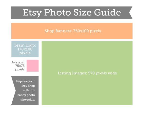 Etsy Photo Size Guide Etsy Image Sizes Etsy Shop Photos Etsy Advice
