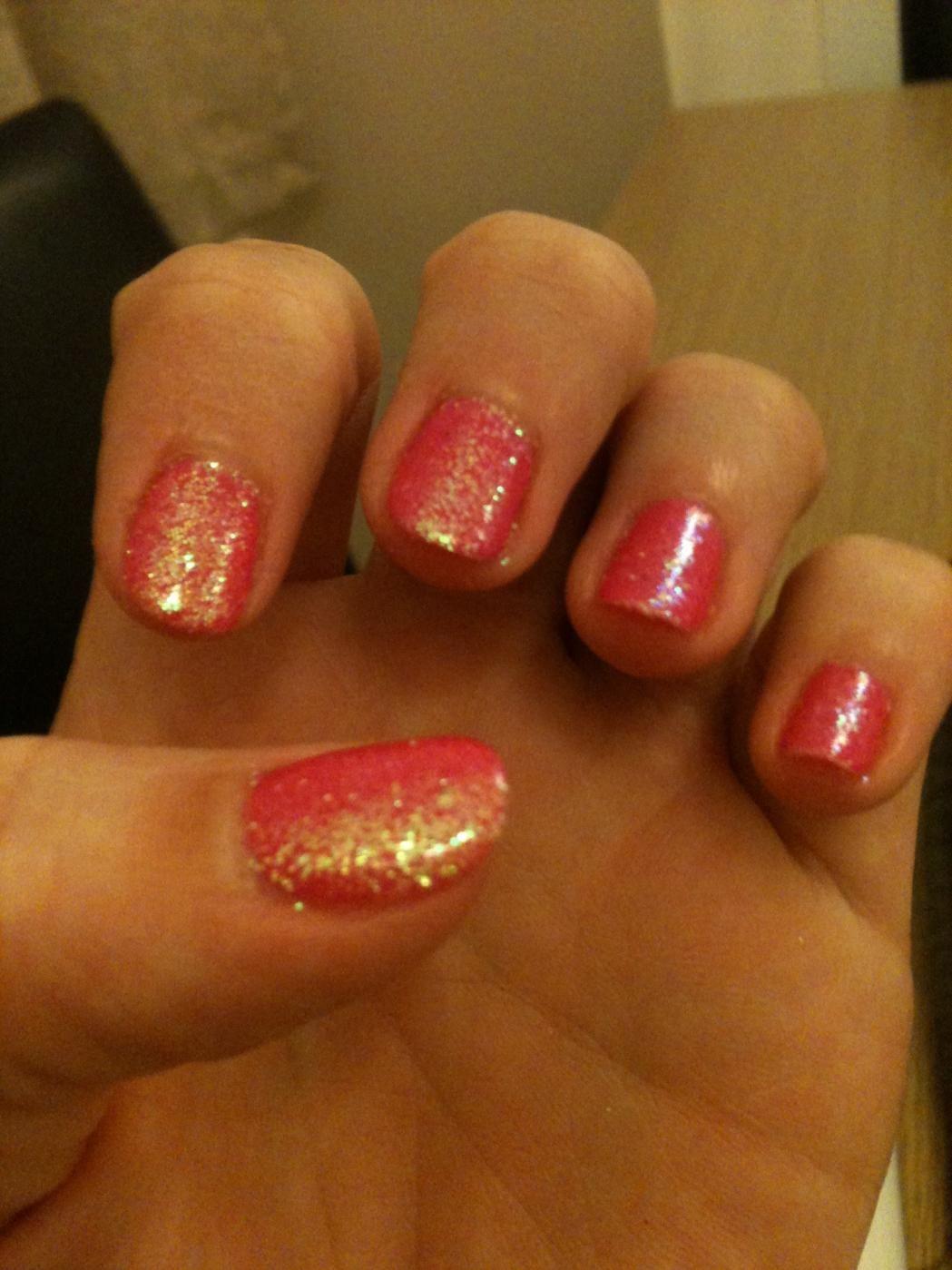 Shellac Nail Design Ideas My First Glitter Shellac