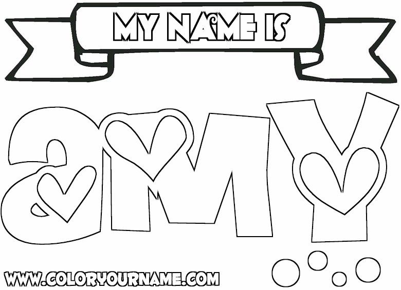 Amy Coloring Page Name Coloring Pages Coloring Pages Colouring Pages