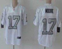 Oakland Raiders  17 Denarius Moore White Silver No. Elite J  09e97e774