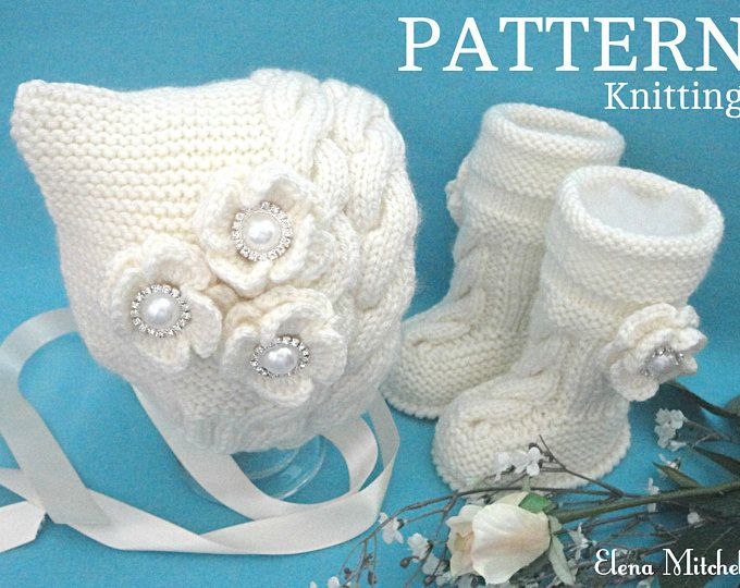 Knitting PATTERN Baby Knitting Patterns Baby Shoes Baby Booties Baby ...