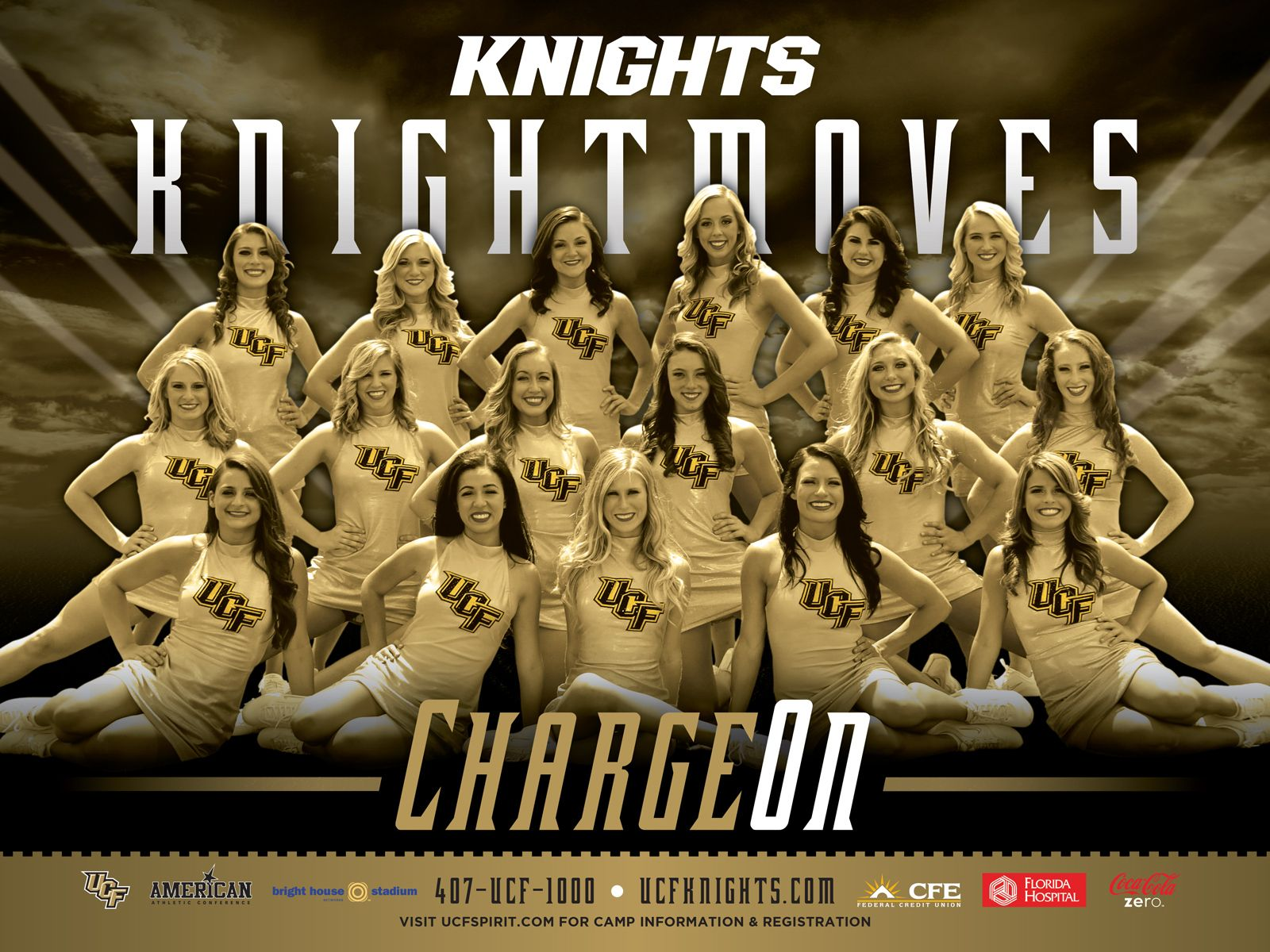 2013 14 Knightmoves Poster My Baby Girl Top Row Far Right Ucf Professional Cheerleaders Ucf Knights