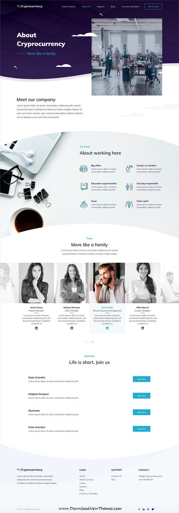 is clean and modern design PSD for currency and digital trading company with 24 layered PSD files to live preview & download click on image or Visit