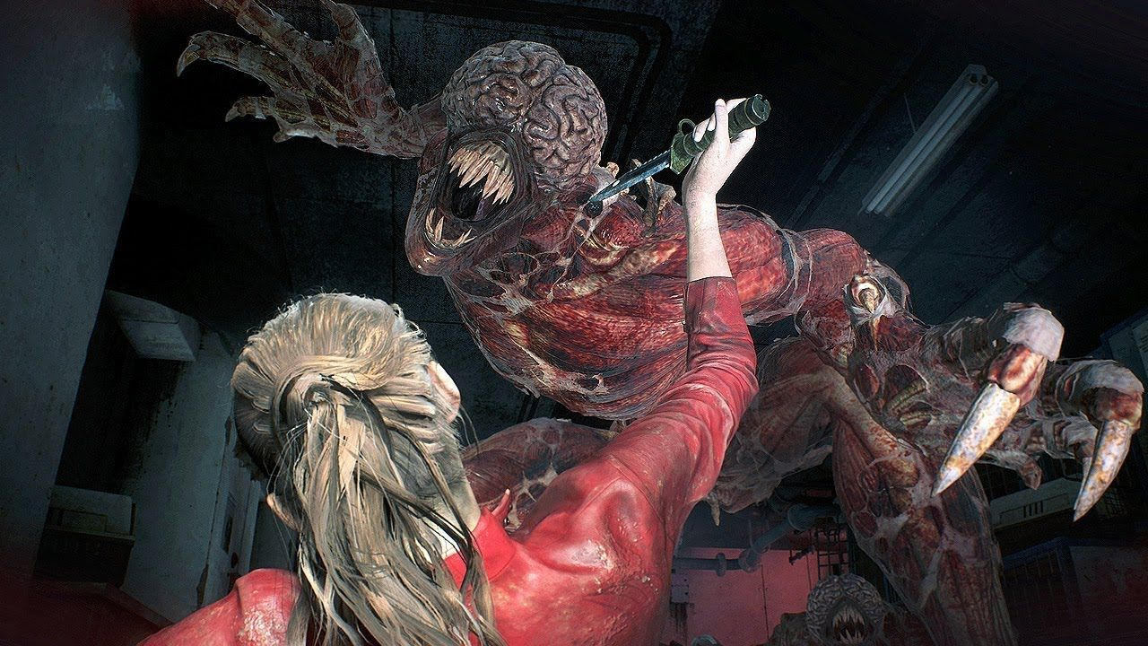 4k Resident Evil 2 Remake Claire Redfield Vs Licker Gameplay
