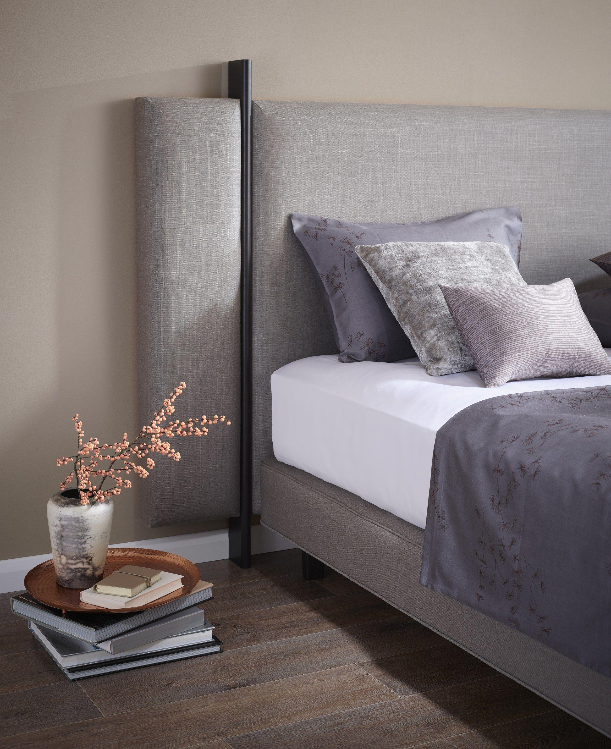 high upholstered wooden headboard vispring interiors bedrooms