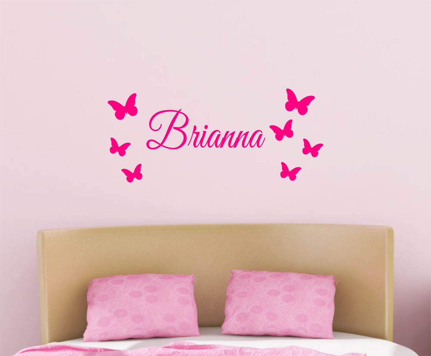 Custom Name Butterflies Vinyl Decal Set Vinyl Art Wall Decal - Vinyl wall decals butterflies