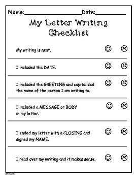 Writers Workshop Letter Writing Templates  MoreGrade