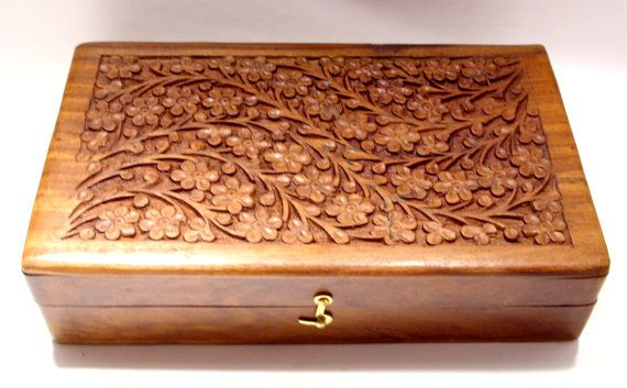 Hand Carved Wooden Box Made In India Decorative Boxes
