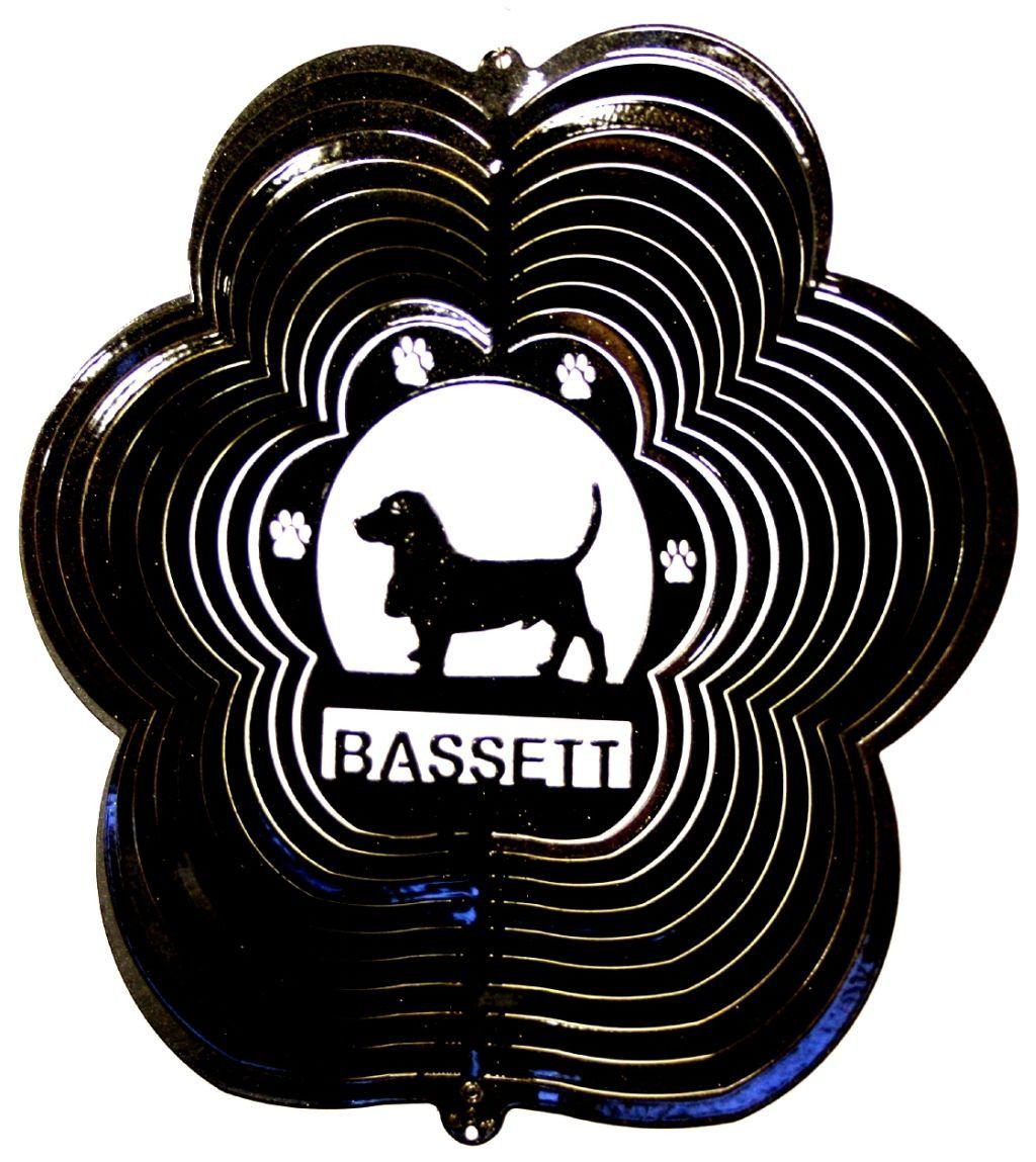 Spinning garden decorations - Bassett Black Starlight Garden Wind Spinner Metal Yard Art And Outdoor Decor 12 Inch