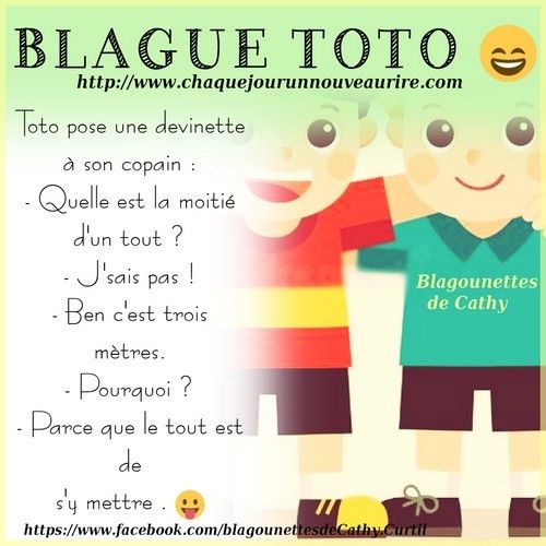 Blague Sur Le Theme Toto Blague De Toto Blague Blague Devinette