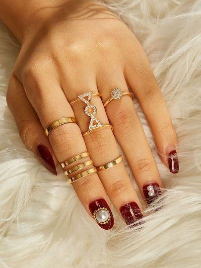 Triangle Detail Layered Ring Set 5pcs#Accessoires bijoux #Idées de bijoux #Bijoux tendance #Bijoux minimalistes #Bijoux mode #Bijoux femme  #Alloy #goldtone #pcsSet #Retro #ring #set #Style #Bijoux mode #Bijoux tendance #Cadeaux bijoux #Bijoux femme #Bijoux ethniques #Accessories jewelry # Jewelry ideas #Jewelry trend #Jewellery minimalist #Jewellery fashion #Women's jewelry  #Alloy #goldtone #pcsSet #Retro #ring #set #Style #Jewellery fashion #Jewelry trend #Gifts jewelry #Women's jewelry